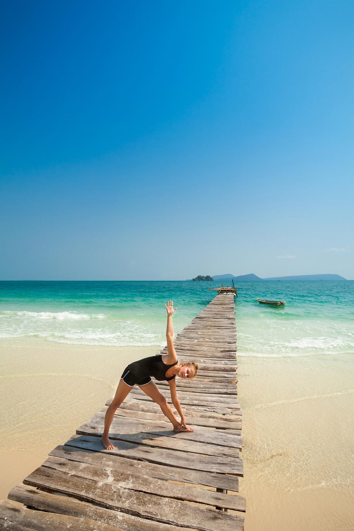 zdjecia jogi na plazy fotografia slask 11 Egzotyczna sesja jogi   fotografia reklamowa